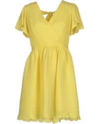 Alice By Temperley Short Dress yellow - Lyst