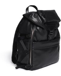 Alexander McQueen Snakeskineffect Leather Backpack - Lyst
