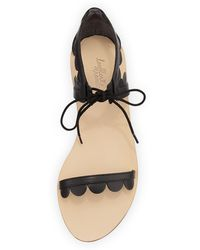 Loeffler Randall Marmy Scalloped Leather Sandal Black - Lyst
