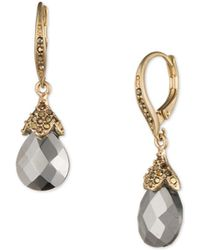 Lonna & Lilly - Jewelled Faceted Drop Earrings - Lyst