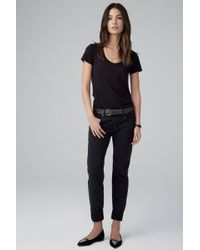 Velvet By Graham & Spencer Jenny Boyfriend Jean in Tar - Lyst