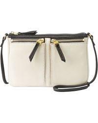 Fossil - Erin Leather Small Top Zip Shoulder Bag - Lyst