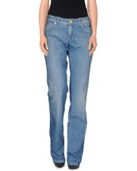 Notify Casual Trouser blue - Lyst
