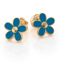 Marc By Marc Jacobs Carry Forward Daisy Stud Earrings/Goldtone gold - Lyst