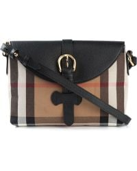 Burberry Nova Check Cotton and Leather Cross-body Bag - Lyst