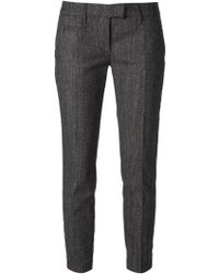 Dondup Slim Fit Cropped Trousers - Lyst