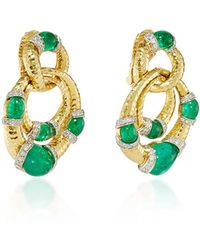David Webb Emerald Earrings Lyst