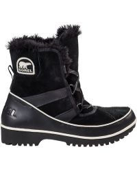 Sorel Tivoli Ii Snow Boot Black Suede - Lyst
