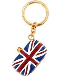 Alexander McQueen Britannia Key Ring - Lyst