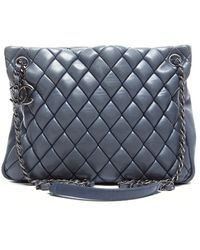 Chanel Preowned New Bubble Quilted North South Tote - Lyst