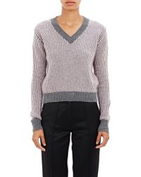 Alexander Lewis - Striped Crop Sweater - Lyst