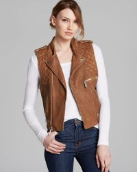 Kors By Michael Kors Vest Leather Moto - Lyst