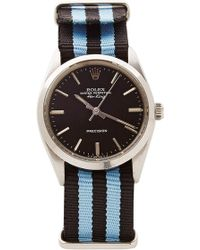 CMT Fine Watch And Jewelry Advisors - Vintage Rolex Airking in Black with Striped Nato - Lyst
