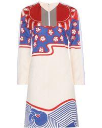 Carven Printed Dress - Lyst