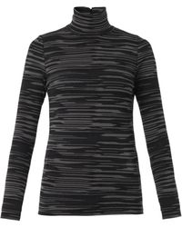 Stella McCartney Melangeknit Rollneck Sweater - Lyst
