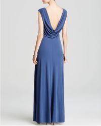 Vera Wang - Gown - Matte Jersey Cap Sleeve - Lyst