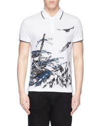 McQ by Alexander McQueen Graphic Print Cotton Polo Shirt - Lyst