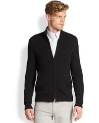 Theory Cashmere Zip-Up Sweater - Lyst