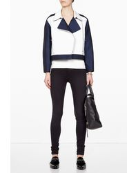 3.1 Phillip Lim Leather Combo Jacket - Lyst