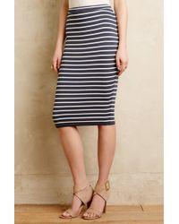 Bella Luxx Striped Ponte Pencil Skirt - Lyst