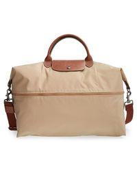 Longchamp 'Le Pliage' Expandable Travel Bag beige - Lyst