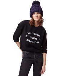 Topshop | 'cali Surf' Brushed Sweatshirt | Lyst