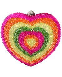 Manish Arora - Rhinestone Embellished Heart Clutch - Lyst