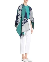 Burberry Wool-Cashmere Cape - Lyst