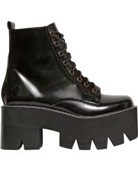 Jeffrey Campbell 80Mm Siglin Brushed Leather Boots - Lyst