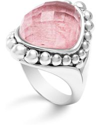 Lagos - Sterling Silver Maya Doublet Dome Ring With Rhodochrosite - Lyst
