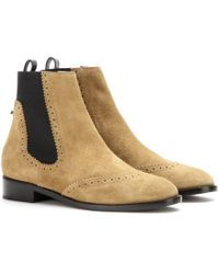 Balenciaga Suede Chelsea Boots - Lyst