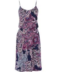 Oasis Paisley Print Cami Dress - Lyst