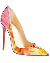 Christian Louboutin 'So Kate' Pointy Toe Pump multicolor - Lyst