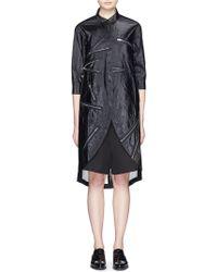 Angel Chen | Zip Detail Crinkled Long Shirt | Lyst
