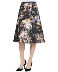 Nha Khanh - Vivian Galaxy-print Sateen Skirt - Lyst