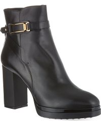 Tod's Heeled Ankle Boots in Leather - Lyst