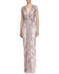 Jenny Packham Starburst Sequined Gown - Lyst