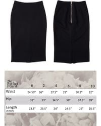 Inter-pret.us Perfect Pencil Skirt Made To Order black - Lyst