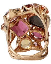 Federica Rettore - Pink Tourmaline Cluster Ring - Lyst
