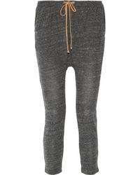 Kain - Marlo Leather-trimmed Stretch-jersey Tapered Pants - Lyst