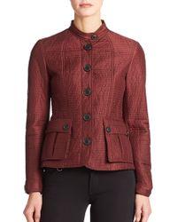 Burberry Brit Ribbed Jacket purple - Lyst