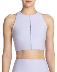 Elizabeth And James Corrin Cropped Top purple - Lyst