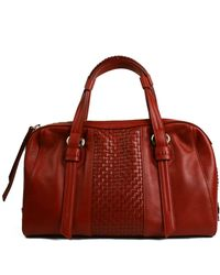 Cole Haan Brennan Leather Satchel - Lyst