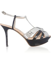 Nicholas Kirkwood Mirrored and Patentleather Sandals - Lyst