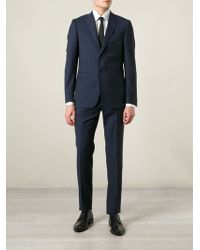 Z Zegna Blue Striped Suit - Lyst