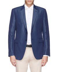 Paul Smith 'The Byard' Linen Blend Blazer blue - Lyst
