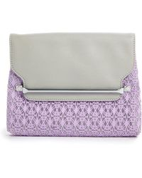 Asos Sleek Bar Clutch Bag with Lace Detail - Lyst