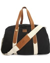 Faguo 48H Duffle Bag Leather Canvasblack - Lyst