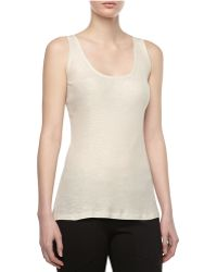 Donna Karan New York Scoop-neck Ribbed Tank - Lyst