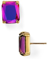Kate Spade Iridescent Emerald Cut Stud Earrings - Lyst